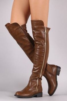 Zipper Trim Elastane Back Panel Riding Boots - Avenue of Angels Ankle Boots Outfit Winter, Winter Boots Outfits, Fall Outfits, Long Boots, Knee High Boots, Over The Knee Boots, Calf Boots, Pumps, Pump Shoes