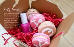 I love this concept. A little box with items that match your colour theme. Would make a perfect bonbonniere for your pink and red soiree.