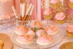 Pink & Gold Princess themed birthday party via Kara's Party Ideas KarasPartyIdeas.com | The Place for All Things Party! #pinkandgoldprincessparty (12)