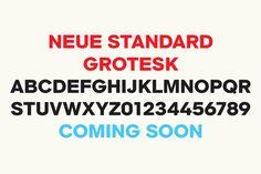 Neue Standard Grotesk by astronaut design , via Behance