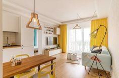 Dăm note mari unor superamenajări în spații mici. Toate made in RO Design Case, Design Inspiration, House Design, Ceiling Lights, Living Room, Interior Design, Bed, Dining, Table