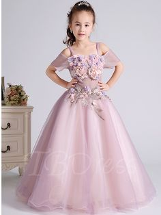 Tbdress.com offers high quality 3D Flowers Off Shoulder Spaghetti Straps Flower Girl Dress 2016 Flower Girl Dresses unit price of $ 125.99.