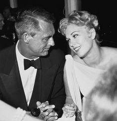 Cary Grant & Kim Novak, 1950s. Looks like love to me.