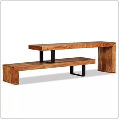 TV Stand Wooden Side Table Cabinet Media Carrier Gaming Console Furniture for sale online Industrial Tv Stand, Vintage Industrial Furniture, Industrial Living, Industrial Pipe, Vintage Wood, Industrial Style, Wooden Tv Stands, Solid Wood Tv Stand, Console Furniture