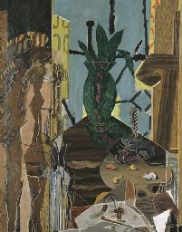 View La femme au pinceau By Georges Braque; oil on canvas; Access more artwork lots and estimated & realized auction prices on MutualArt. Georges Braque, Pablo Picasso, Henri Matisse, Painters Studio, Visual Metaphor, Cubism Art, Painting People, Small Canvas, French Artists