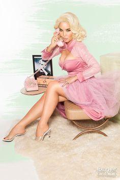 Bernadette Vintage Cocktail Dress in Dusty Rose
