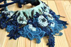 OOak Hand embroidered textile fabric elegant by BohemianSinShop Textile Fabrics, Boho Shorts, My Design, Crochet Necklace, Bohemian, Velvet, Embroidery, Silk, Elegant