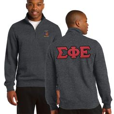 Campus Classics - New! SigEp Heather Charcoal 1/4 Zip Sweatshirt with Sewn On Letters, $58.95 (http://www.campus-classics.com/sigep-heather-charcoal-1-4-zip-sweatshirt-with-sewn-on-letters/)