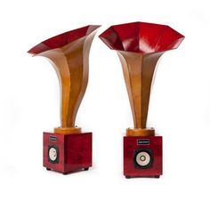 The Hornlings can be paired with our Satellite/Subwoofer unit for a perfect system to use with any sound source (i.e. iPod, cd player, radio etc.). They can also be used with any of our hi-fi tube amplifiers for a beautiful symbiosis. Or they can be paired with virtually any other system and achieve excellent results. Perfect for home theater use! #audio #hifi #music #sound #homeaudio