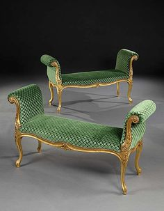 An impressive pair of mid century Chippendale period carved giltwood window seats of generous proportions, each having a serpentine fronted seat upholster Furnishings, Cheap Furniture Online, Furniture Collection, Cheap Furniture, Furniture, Georgian Furniture, Cool Furniture, Regency Furniture, Bedroom Furniture