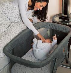 Buy Baby Elegance Kangu Foldable Bedside Sleeper - Grey at Argos. Bedside Sleeper, Bedside Crib, Grey Crib, Nursery Furniture Sets, Young Baby, Baby Up, Crib Sets, Adjustable Legs