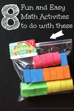 The Educators' Spin On It: 8 Fun and Easy Math Activities to do with Counting Blocks