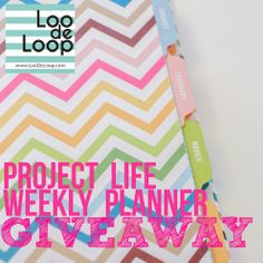 Get your life together with a Project Life Weekly Planner GIVEAWAY! #projectlife #beckyhiggins