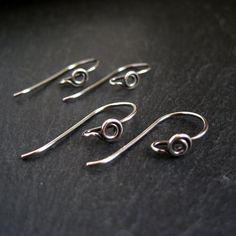 Sterling Silver Earwires swirl fancy earwires oxidized earring findings handmade
