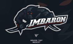Imbaron Typography Logo, Art Logo, Logo Branding, Logo Desing, Game Logo Design, American Logo, Esports Logo, Sports Team Logos, Logo Concept