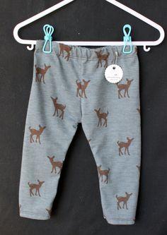 Deer Fawn Blue Grey Brown Animal Baby Boy by PitterPatterShop, $12.00