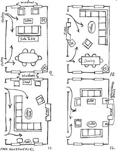 arranging furniture in a 12 foot wide24 foot long living room