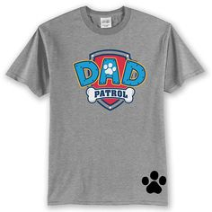 Custom PAW PATROL Dad birthday shirt Dad Patrol T Shirt Paw