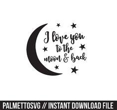 te amo a la luna y volver svg dxf archivo descarga por palmettosvg