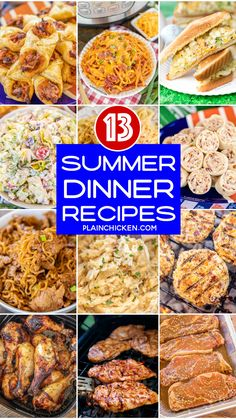 Summer Dinner Recipes Summer Dinner Recipes - 13 quick and easy recipes to make dinner a breeze this summer! Grilling Recipes, Slow Cooker Recipes, Beef Recipes, Cooking Recipes, Easy Recipes, Summer Recipes, Healthy Dinner Recipes, Indian Food Recipes, Kitchen