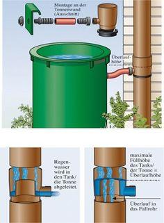 regenwasser sammeln regenwasser aus dem fallrohr ableiten montageanleitung garten pflanzen. Black Bedroom Furniture Sets. Home Design Ideas