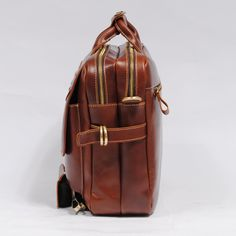 "Handmade Leather Briefcase / 14"" Laptop 15"" MacBook Bag / Travel Bag"
