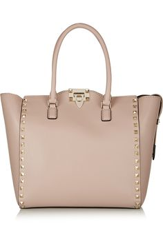 Yes please! <3<3<3  Valentino | The Rockstud medium leather tote | NET-A-PORTER.COM