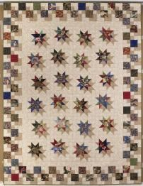 Hollywood Boulevard, designed and pieced by Judy Martin, 2006. Pattern is one of three quilts with shadow effects in Judy's book, Scraps.
