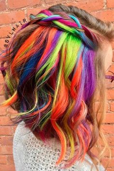 Chic Hidden Rainbow Hair is the Magic You Need to Be Trendy ★ See more: http://lovehairstyles.com/chic-hidden-rainbow-hair/