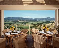 Wow!  Check out the view from this Napa Valley B&B;.