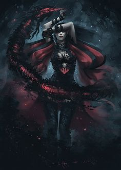 Dark Elf Summoner - Concept 5 by *Arsinoes on deviantART