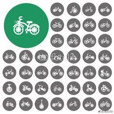 Wektor: Bicycle type icons set. Vector Illustration eps10