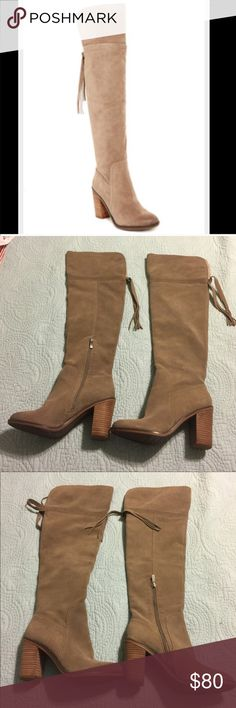 NEW Franco Sarto Ellyn Over/the-Knee Suede Boots NEW Franco Sarto Ellyn Over/the-Knee Suede Boots Size 7. So gorgeous! Franco Sarto Shoes Over the Knee Boots