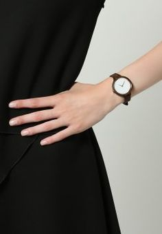 Kerbholz - HINZE - Uhr - ebony/tanned brown