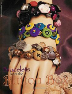Button bracelets - now, i know what to do with all those buttons i have collected over the years.