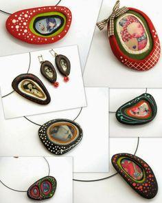 Con Tus Manos, polymer clay jewellery. Found on fabicontusmanos.blogspot.com.es...scroll down for tutorial