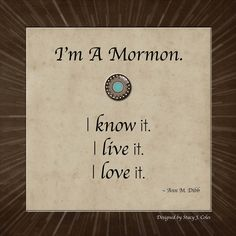 I'm A Mormon Quote by Ann M. Dibb; designed by Stacy J. Coles at http://www.saythiswrite.blogspot.com.
