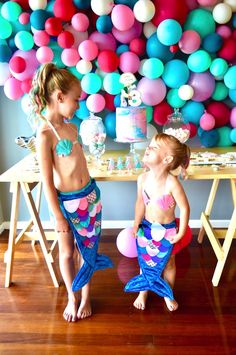 Splashing around for party ideas for your little girl? Kara's Party Ideas has the cutest Colorful Mermaid Birthday Party with awesome pics! Mermaid Birthday Decorations, Pool Party Decorations, Colorful Birthday Party, Birthday Party Themes, Dream Party, Little Mermaid Parties, Boho, Girl Parties, Theme Parties