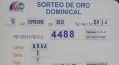 Resultados Loteria de Panama domingo 13/9/15. Ver resultados http://wwwelcafedeoscar.blogspot.com/2015/09/loteria-nacional-de-panama.html