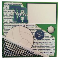 Thunder Ridge High School Grizzlies Volleyball by ScrapYourSpirit, $45.00