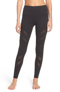 Zella 'Splice it Up' High Waist Leggings available at #Nordstrom - Small