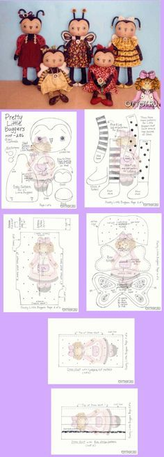 A free pattern! You could even change it into a girl… Doll Crafts, Diy Doll, Cute Crafts, Doll Clothes Patterns, Doll Patterns, Fabric Doll Pattern, Fabric Toys, Sewing Dolls, Doll Tutorial