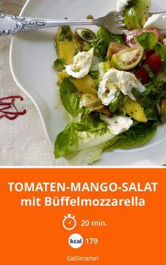 Tomaten-Mango-Salat - mit Büffelmozzarella - smarter - Kalorien: 179 Kcal - Zeit: 20 Min.   eatsmarter.de