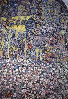 Gustav Klimt. Garden on a Hill (The more of Klimt's work I see, the more I like it.)