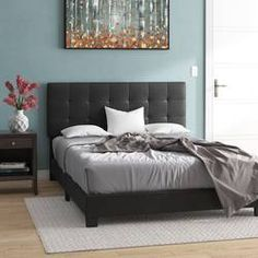 Buy Unique Bargains Roder Upholstered Platform Bed By Wrought Studio Furniture, Redecorate Bedroom, Cool Beds, Upholstered Storage, Upholstered Panel Bed, Bedroom Furniture, Upholstered Platform Bed, Headboard And Footboard, Best Storage Beds