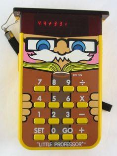 Little Professor Electronic Calculator Math