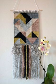 Image result for woven wall hanging triangles