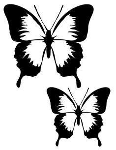Butterfly suncatcher template printable - Mommy Scene