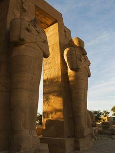 Ramesseum, West Bank, Luxor, UNESCO World Heritage Site - Egypt
