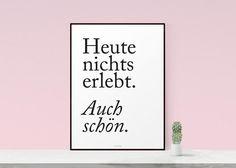 Kunstdruck Poster / Auch Schön von typealive auf DaWanda.com
